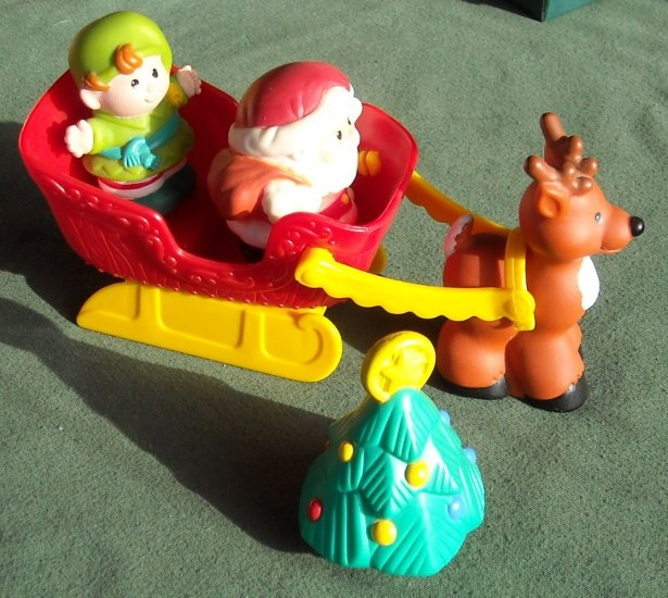 Fisher Price Little People Santa Christmas Set