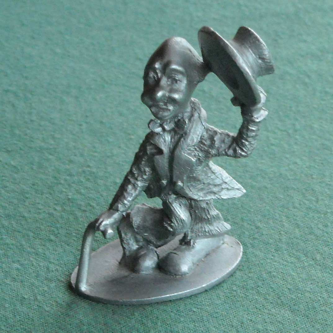 Spoontiques Vintage clown figurine solid pewter