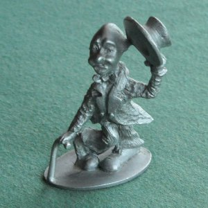 Spoontiques Vintage clown figurine solid pewter