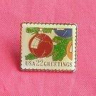 USA Postal 22c Greetings Stamp tie tac pin
