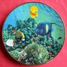 Living Oasis Coral Paradise Hamilton porcelain plate 1989