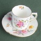 Royal Crown Derby Rose demitasse cup and saucer set