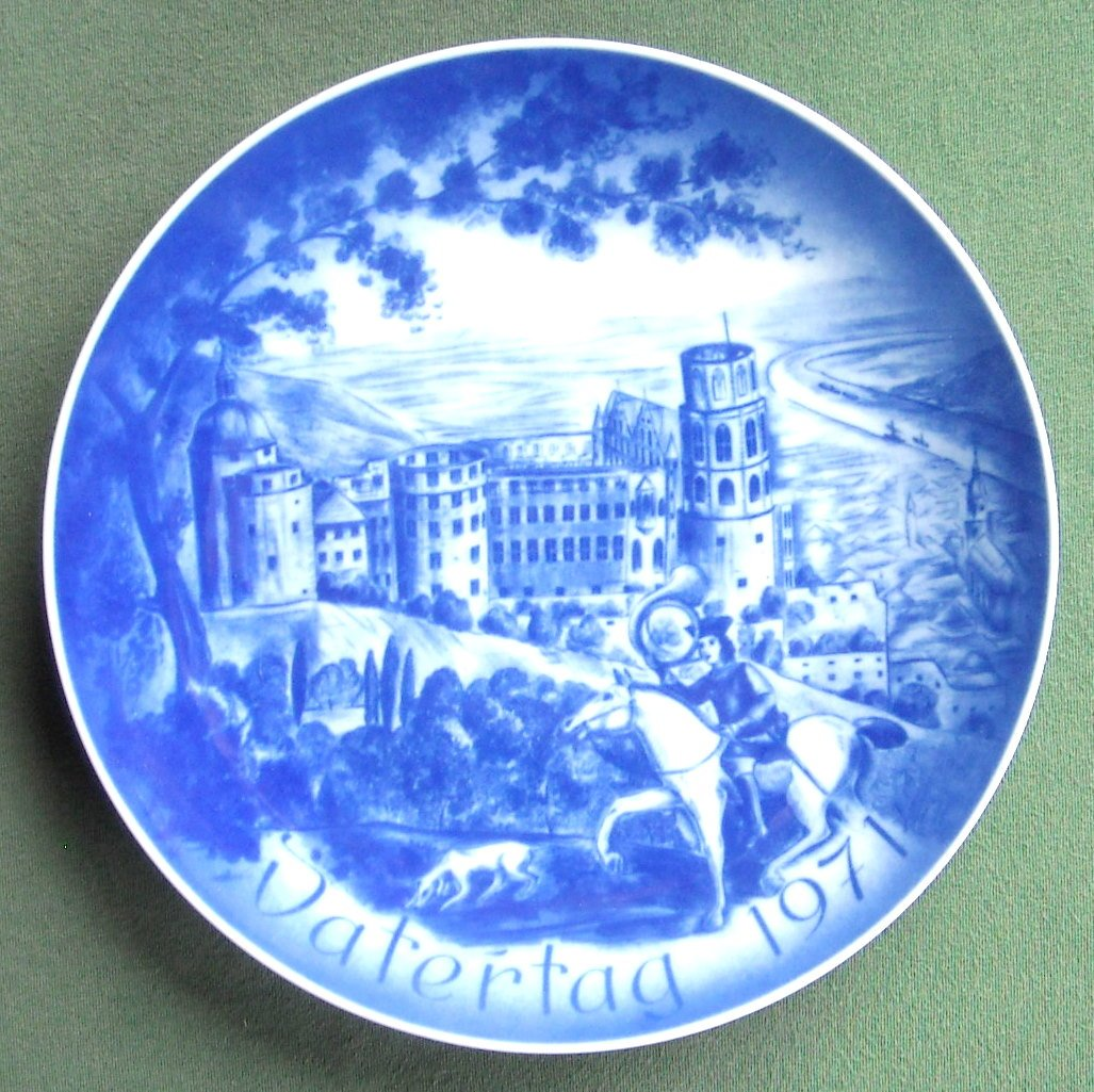 Bareuther Castle Heidelberg Fathers Day 1971 porcelain plate