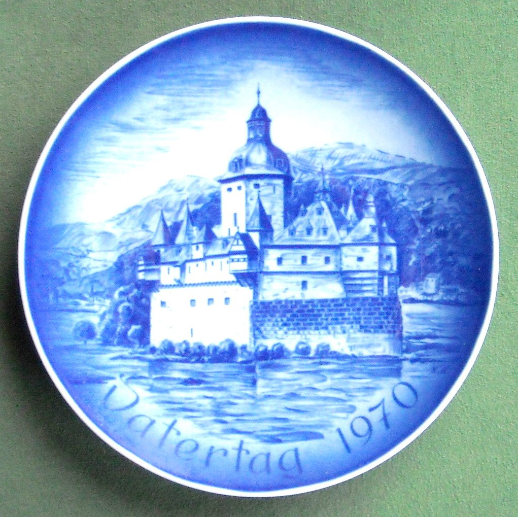 Bareuther Castle Pfalz Fathers Day 1970 porcelain plate