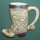 American Heritage Butch Cassidy Jesse James beer boot mug stein