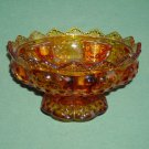 Vintage Golden Amber Fenton pedestal candle holder