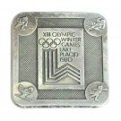 Winter Olympic Games XIII 1980 Lake Placid Vintage Belt Buckle
