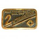 Black Thunder Mine Solid Brass Vintage Belt Buckle