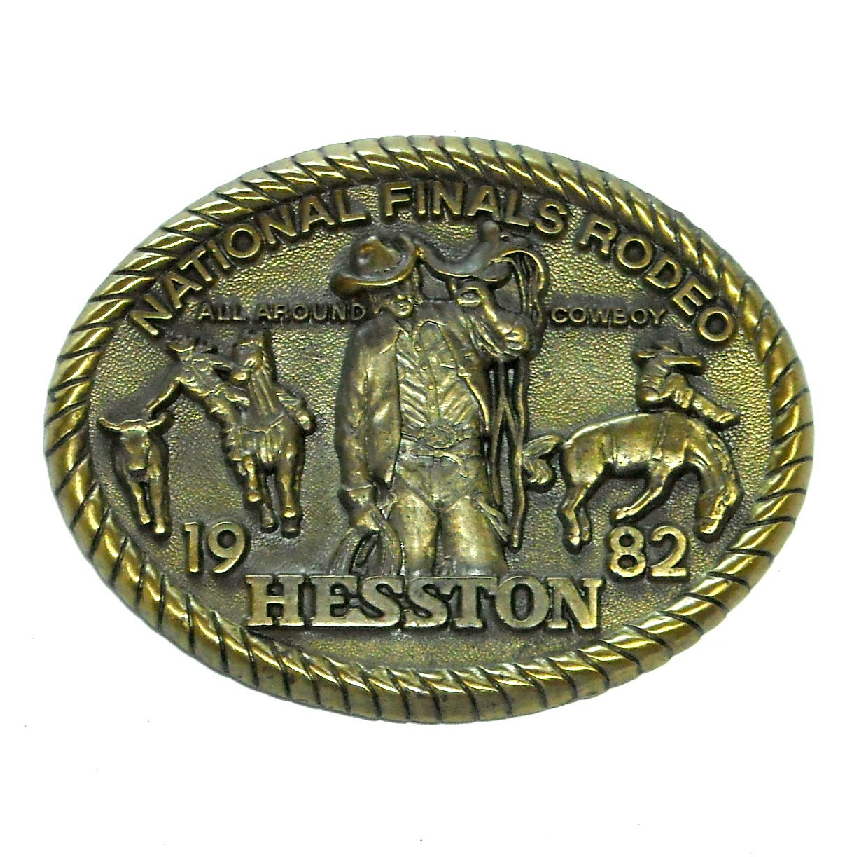 All Around Cowboy National Finals Rodeo Hesston Vintage Belt Buckle