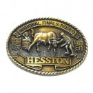National Finals Rodeo Clown Hesston Vintage Belt Buckle