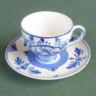 Delfts Blue Vintage Hand Painted Demitasse Cup Saucer Set