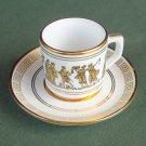 Neofitou Greece vintage gold demitasse cup and saucer set