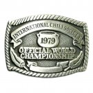 Vintage Official World Championship International Chili Society Belt Buckle