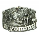 Wyoming 1982 Siskiyou Pewter USED Belt Buckle