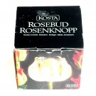 Rosebud Kosta Boda Crystal Votive Candle Holder Boxed