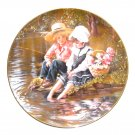 Sandra Kuck Days Gone By Plate Little Anglers