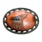 Republican Elephant Tony Lama Leather Vintage Western Belt Buckle