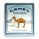 Camel Turkish Silver Metal Cigarettes Box Tin With C Notes