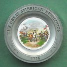 Surrender of Cornwallis Great American Revolution Plate Canton Pewter