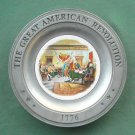 Declaration of Independence Great American Revolution Plate Williamsport Foundry Pewter