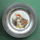 Great American Revolution John Trumbull Canton Pewter Plate