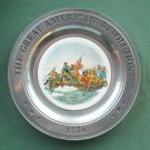 Crossing Delaware Great American Revolution Plate Canton Pewter