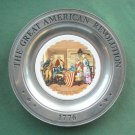 Betsy Ross Great American Revolution Plate Dunsmore Canton Pewter