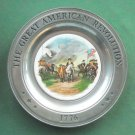 Surrender Cornwallis Great American Revolution Plate Canton Pewter