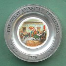 Declaration Independence Great American Revolution Canton Pewter Plate