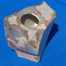 Rare Evans Ceramics Raku Ancient sands art vase w / certificate