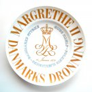 Bing & Grondahl Queen Margrethe Gold Plate
