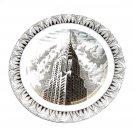 Chrysler Building Slice Of Life Gray Plate