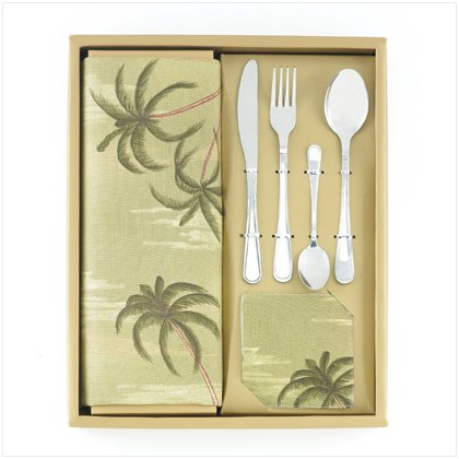12-piece Palm Tree Tabletop Set