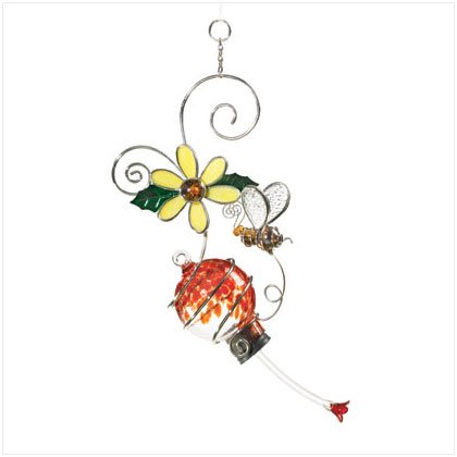 Flower and Bee Birdfeeder