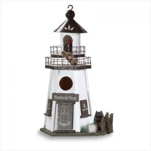 White Lighthouse Birdhouse