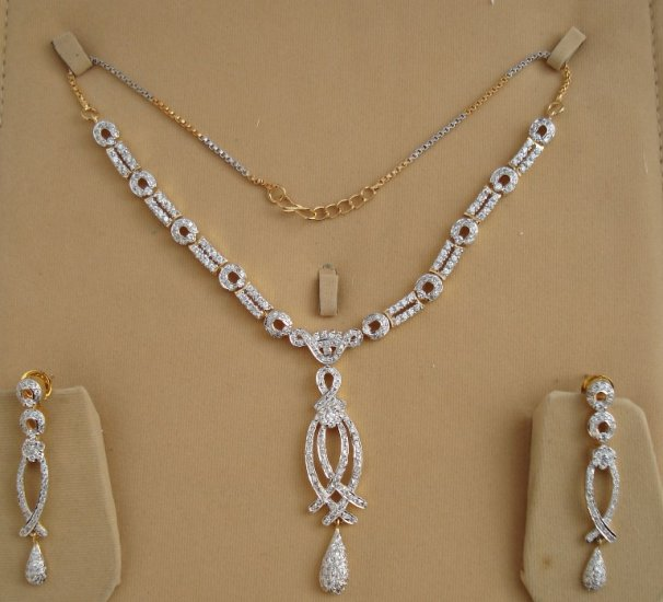 Desinger American Diamond Necklace Set- S31. Free Shipping Worldwide.