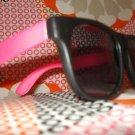 Pink & Black Wayfarer style sunglasses - unisex