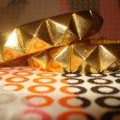 studded gold bracelet