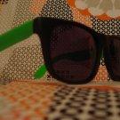 Green& Black Wayfarer style sunglasses - unisex
