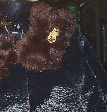 **REDUCED**Gorgeous Vintage Sixties Black Evening Jacket with Genuine Mink Collar