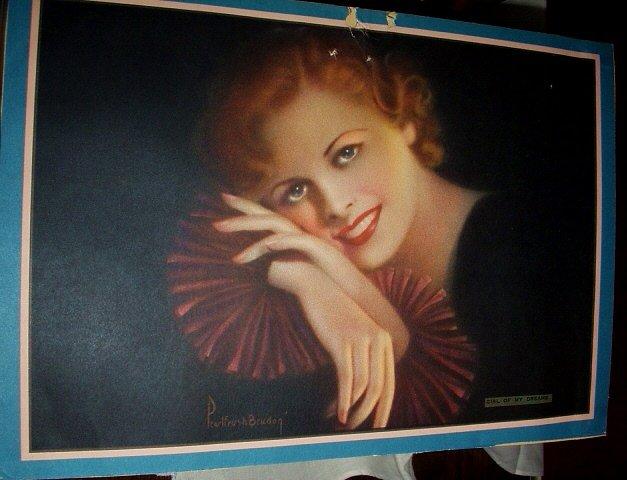 1940 Calendar Print-PEARL FRUSH BRUNDON-Girl of My Dreams