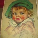 C1930s Vntg Calendar Top-Adorable Blue-Eyed BABY FACE-MAUD TOUSEY FANGEL