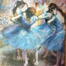 Ballet Classic LARGE Lithograph Print- BEFORE THE BALLET- EDGAR DEGAS