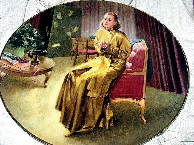 1990 Greta Garbo Grand Hotel Bradford Collector Porcelain Plate
