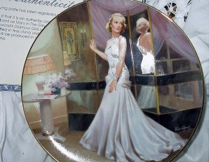 1990- CAROLE LOMBARD-#3 BRADFORD COLLECTOR PLATE-THE GAY BRIDE