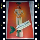 Superb Original 1938 Tobacciana Chesterfield Christmas Ad-Woman Backless