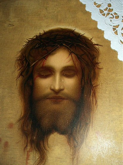 Strikingly Beautiful Lithograph-JESUS CHRIST,Crown of Thorns