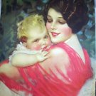 STUNNING EARL CHRISTY LITHO-ART DECO MOM,BABY