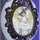 Precious Little Metal Framed-MAUD HUMPHREY-Little Girl, Big Hat