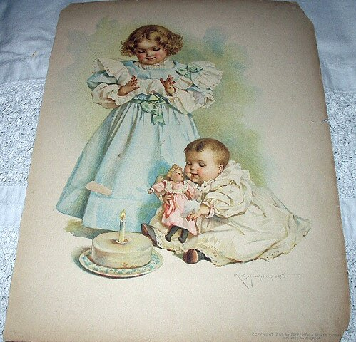 Sold-1898 MAUD HUMPHREY-Babys First Birthday Party
